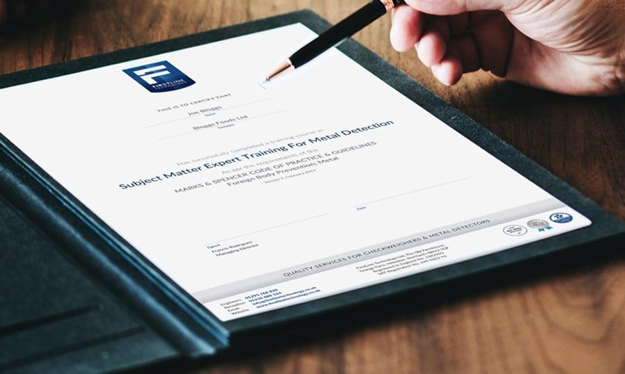 M&S COP & SME Training certificate